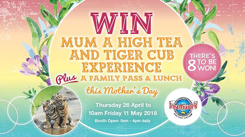 WIN Mum a High Tea & Tiger Cub Experience