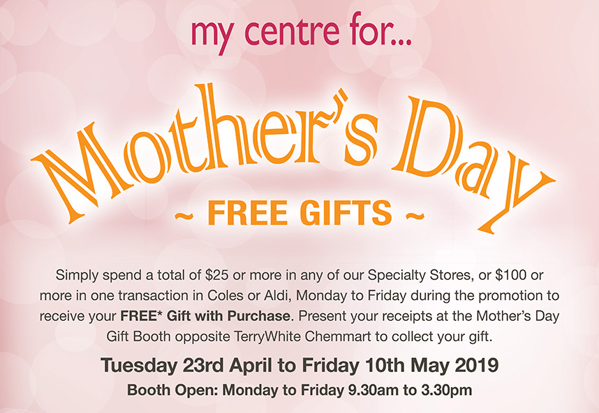 Mother's Day Free Gifts